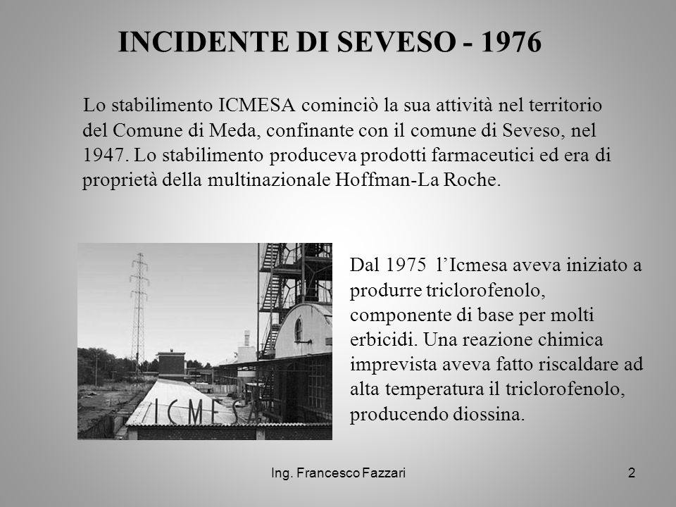 INCIDENTE DI SEVESO - 1976