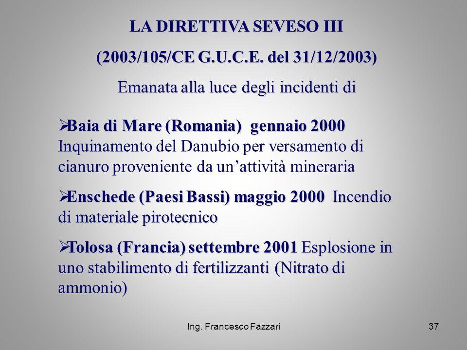 LA DIRETTIVA SEVESO III