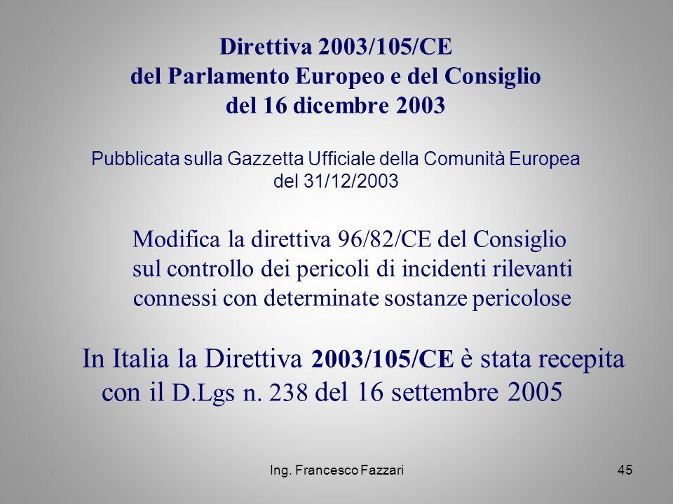 In Italia la Direttiva 2003/105/CE è stata recepita