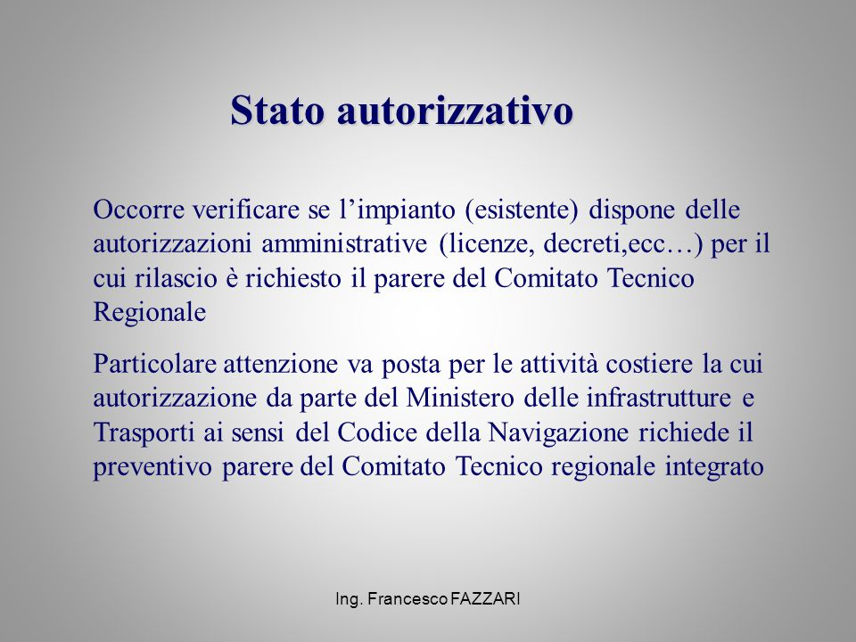 Stato autorizzativo