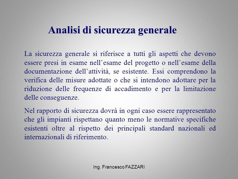 Analisi di sicurezza generale