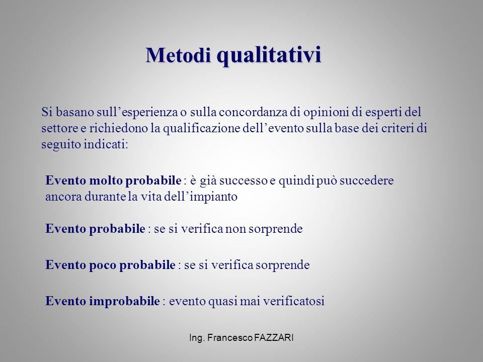 Metodi qualitativi