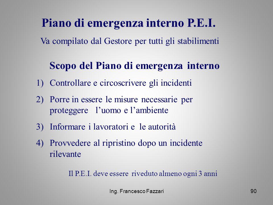 Scopo del Piano di emergenza interno