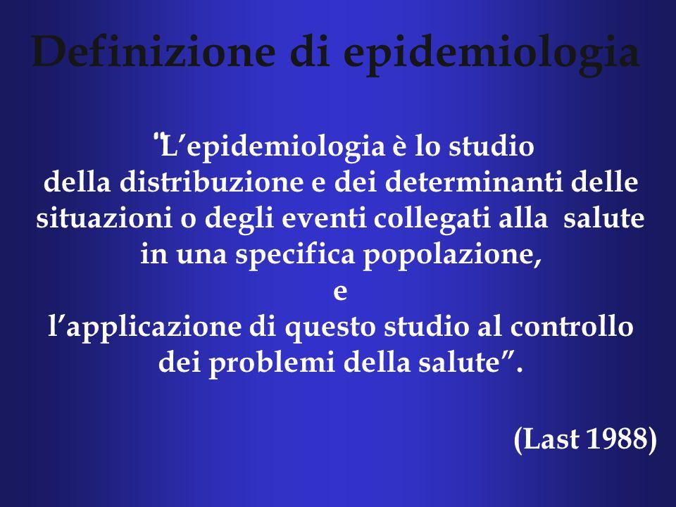 Definizione di epidemiologia