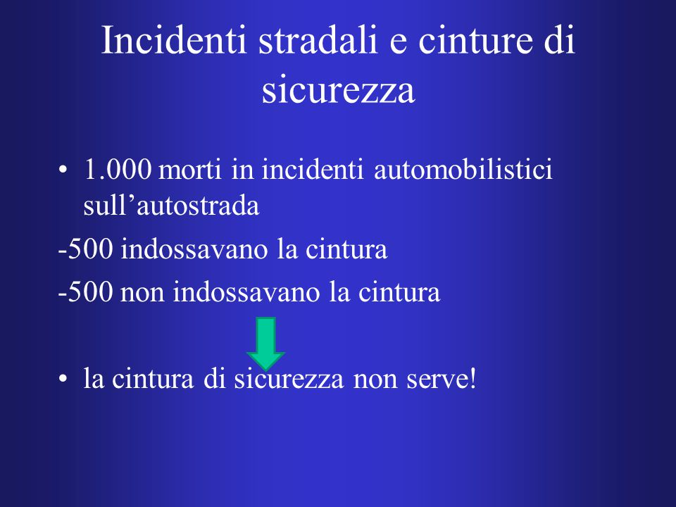 Incidenti stradali e cinture di sicurezza