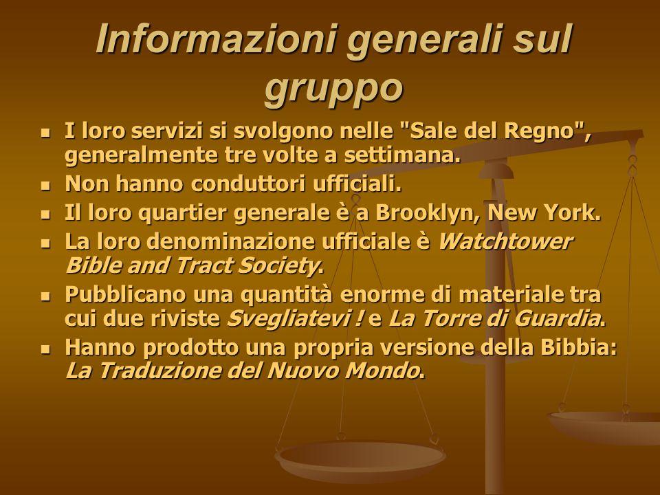 Informazioni generali sul gruppo