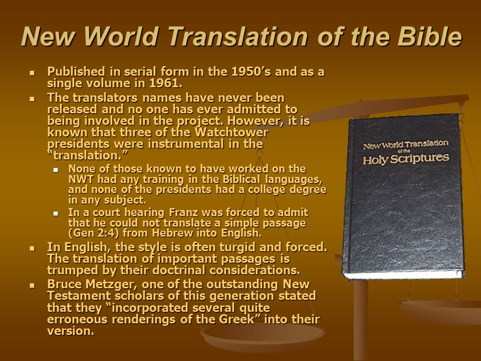 New World Translation of the Bible