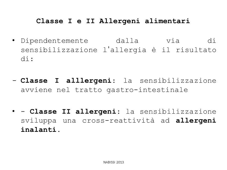 Classe I e II Allergeni alimentari