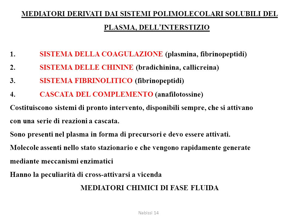 MEDIATORI CHIMICI DI FASE FLUIDA