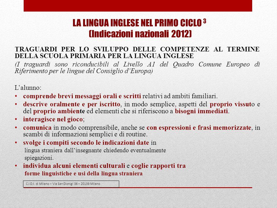 C.I.D.I. di Milano – Via San Dionigi 36 – 20139 Milano