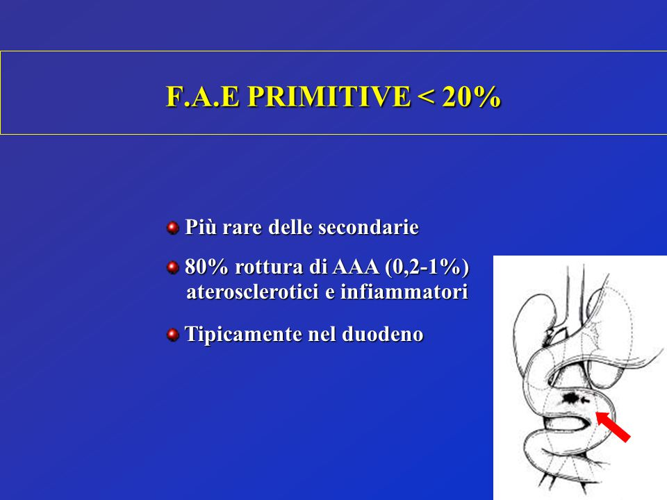 F.A.E PRIMITIVE < 20% Più rare delle secondarie