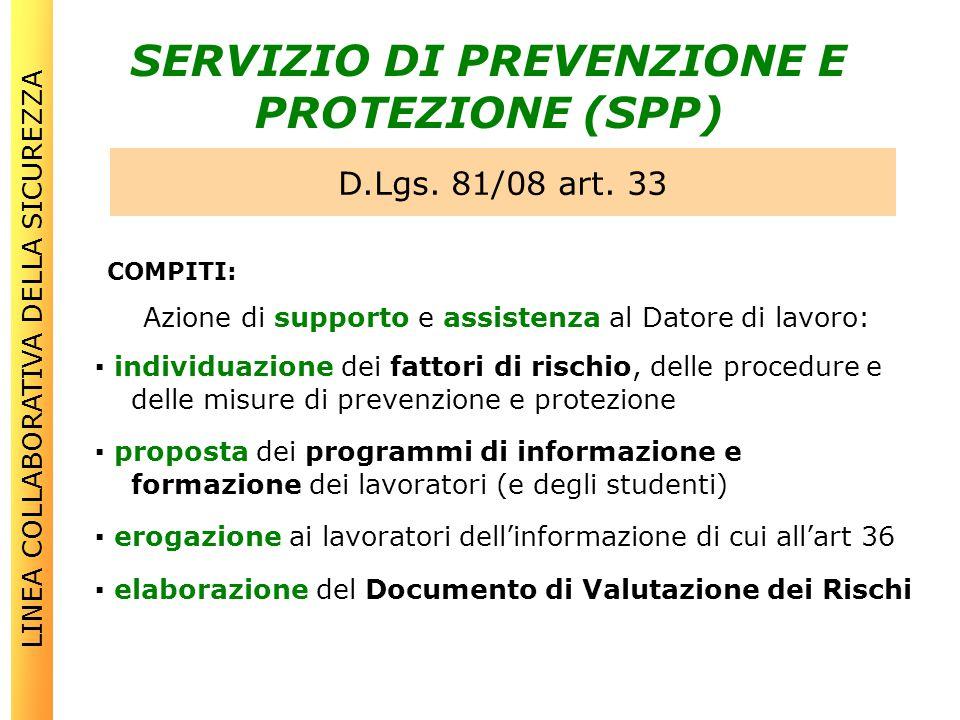 SERVIZIO DI PREVENZIONE E PROTEZIONE (SPP)