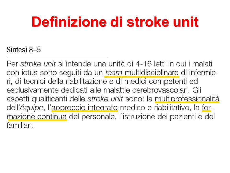 Definizione di stroke unit