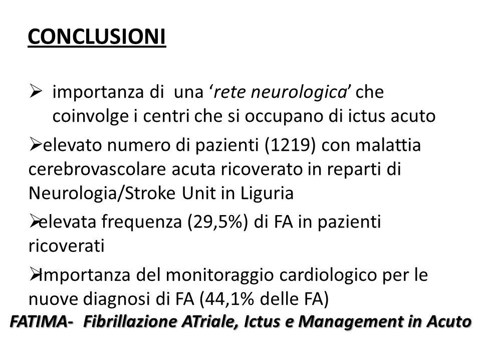 FATIMA- Fibrillazione ATriale, Ictus e Management in Acuto
