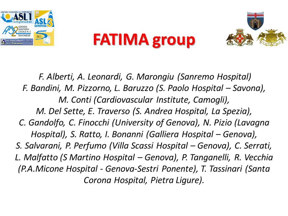 FATIMA group F. Alberti, A. Leonardi, G. Marongiu (Sanremo Hospital) F