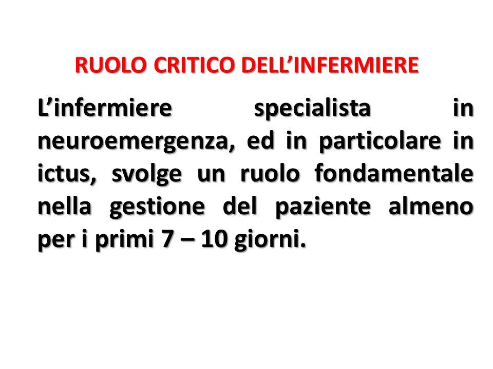 RUOLO CRITICO DELL'INFERMIERE