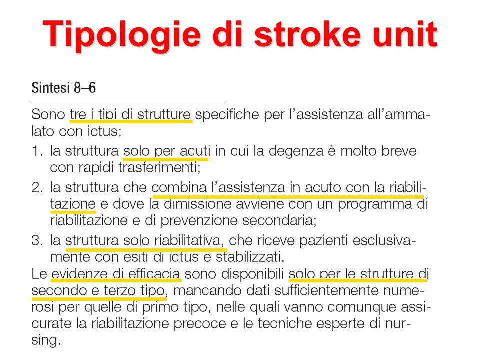 Tipologie di stroke unit