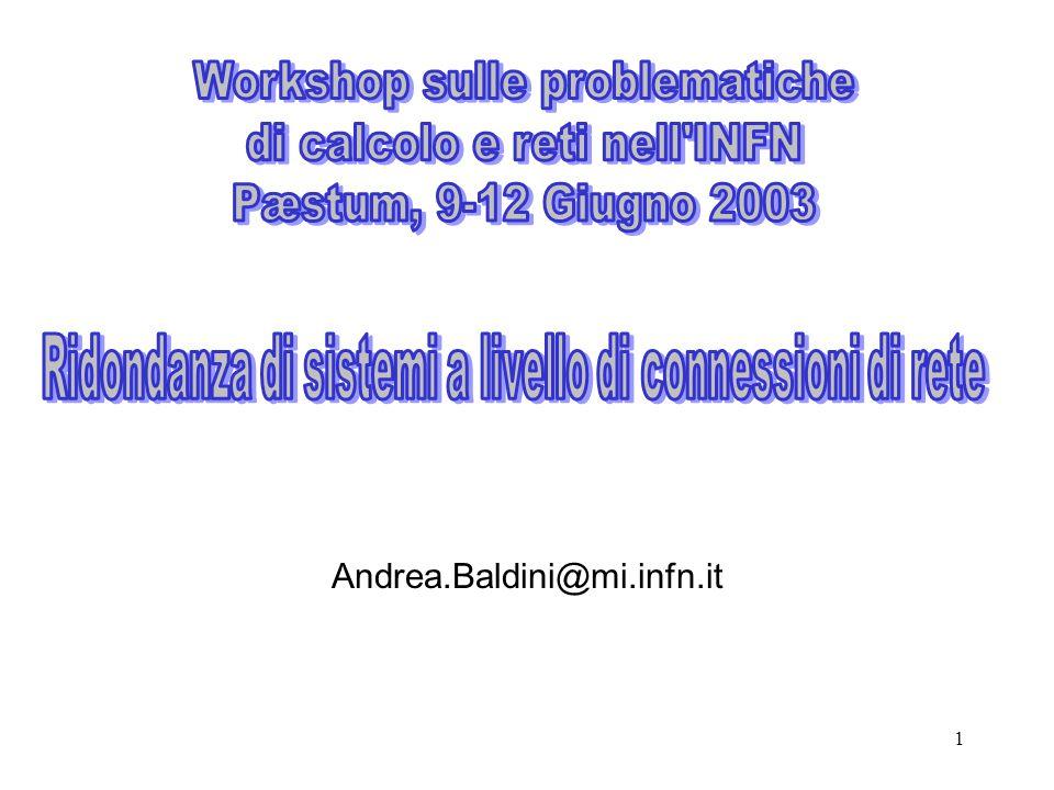 Workshop sulle problematiche di calcolo e reti nell INFN
