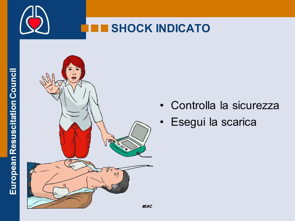 SHOCK INDICATO Controlla la sicurezza Esegui la scarica