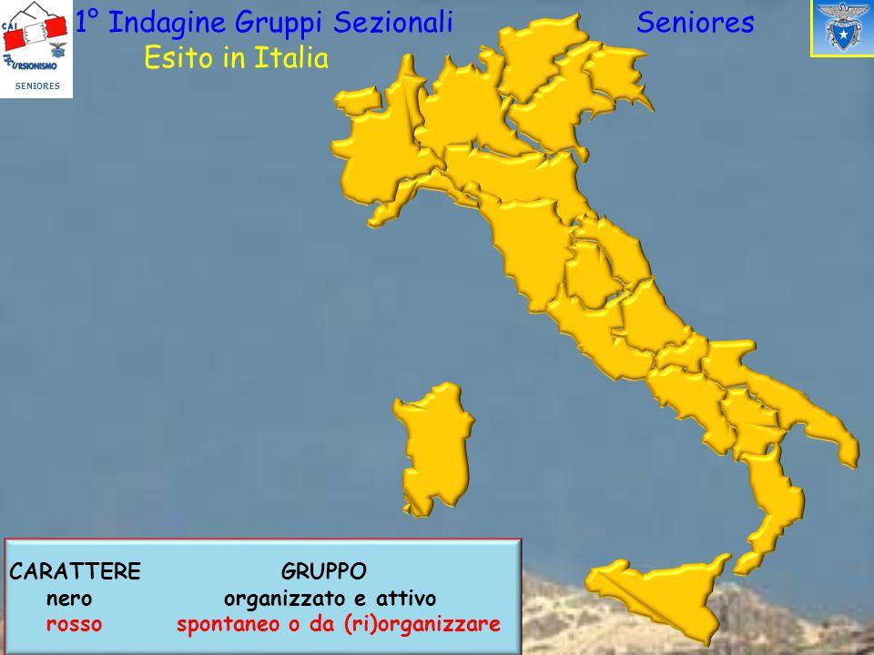 1° Indagine Gruppi Sezionali Seniores Esito in Italia