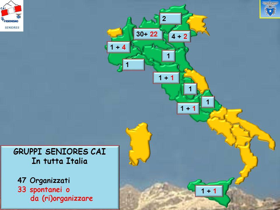 GRUPPI SENIORES CAI In tutta Italia