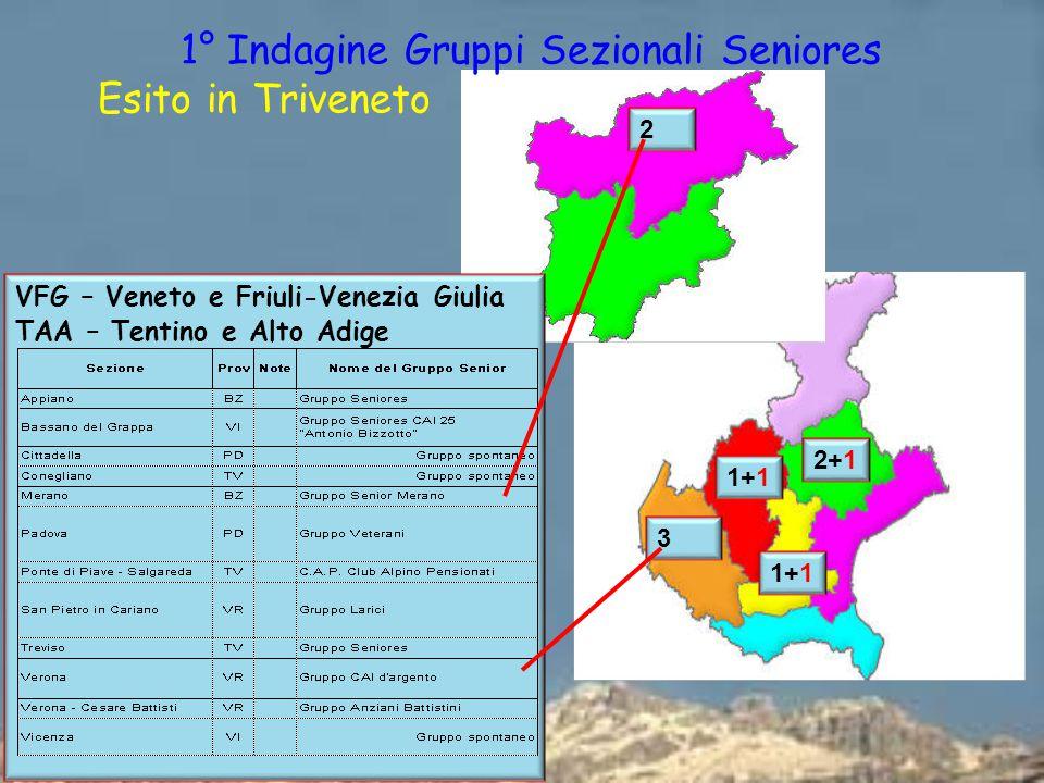 1° Indagine Gruppi Sezionali Seniores