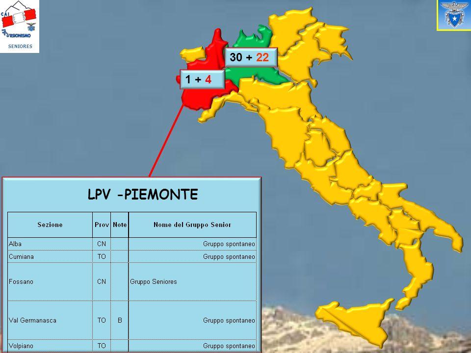 SENIORES 30 + 22 1 + 4 LPV -PIEMONTE