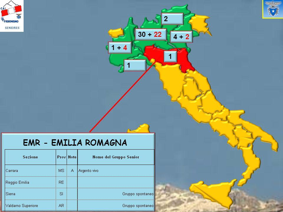 SENIORES 2 30 + 22 4 + 2 1 + 4 1 1 EMR - EMILIA ROMAGNA