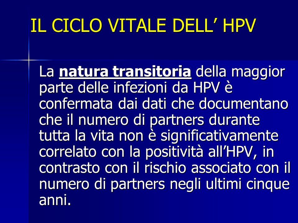 IL CICLO VITALE DELL' HPV