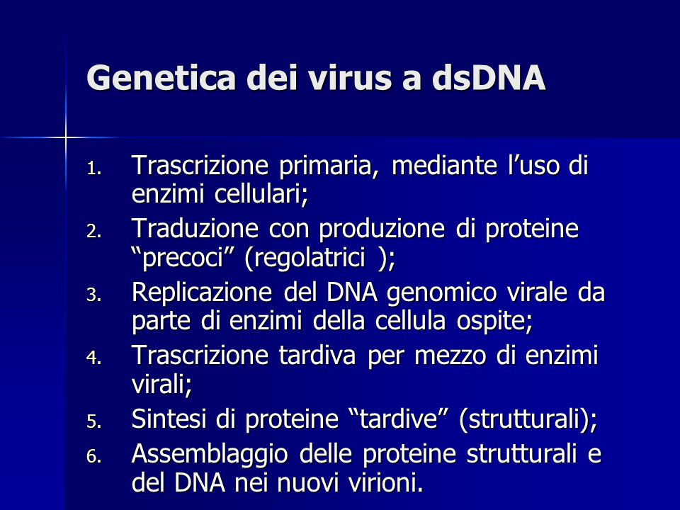 Genetica dei virus a dsDNA
