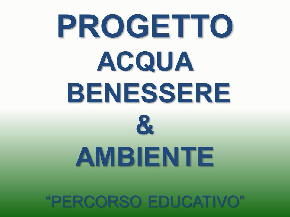 PROGETTO ACQUA BENESSERE & AMBIENTE PERCORSO EDUCATIVO