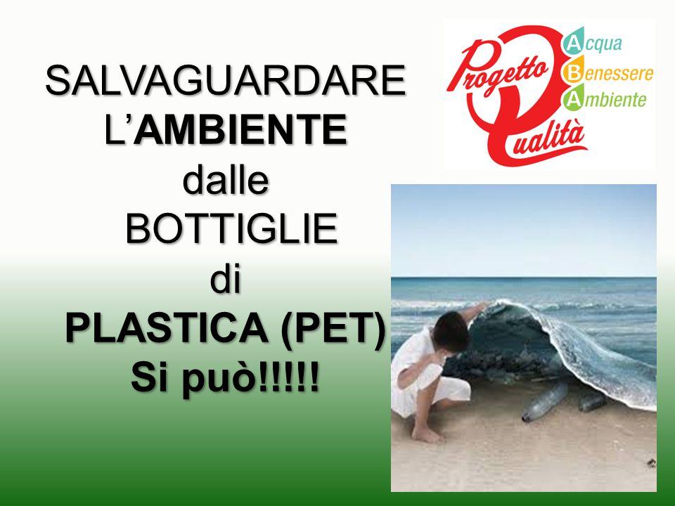 SALVAGUARDARE L'AMBIENTE dalle BOTTIGLIE di PLASTICA (PET) Si può!!!!!