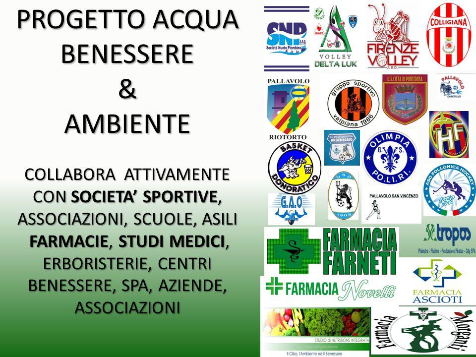 PROGETTO ACQUA BENESSERE & AMBIENTE COLLABORA ATTIVAMENTE