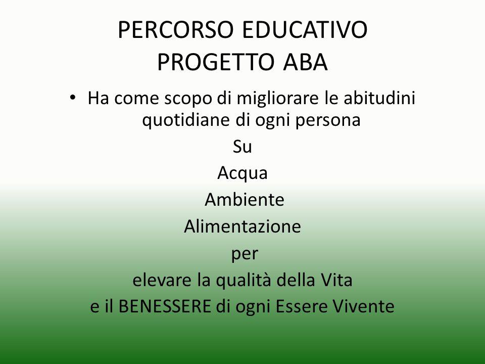PERCORSO EDUCATIVO PROGETTO ABA