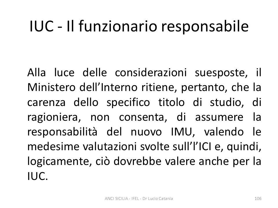 IUC - Il funzionario responsabile