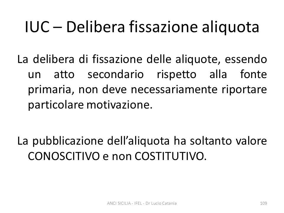 IUC – Delibera fissazione aliquota
