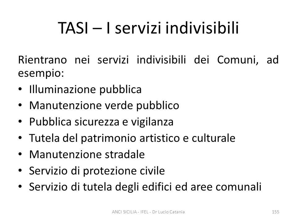 TASI – I servizi indivisibili