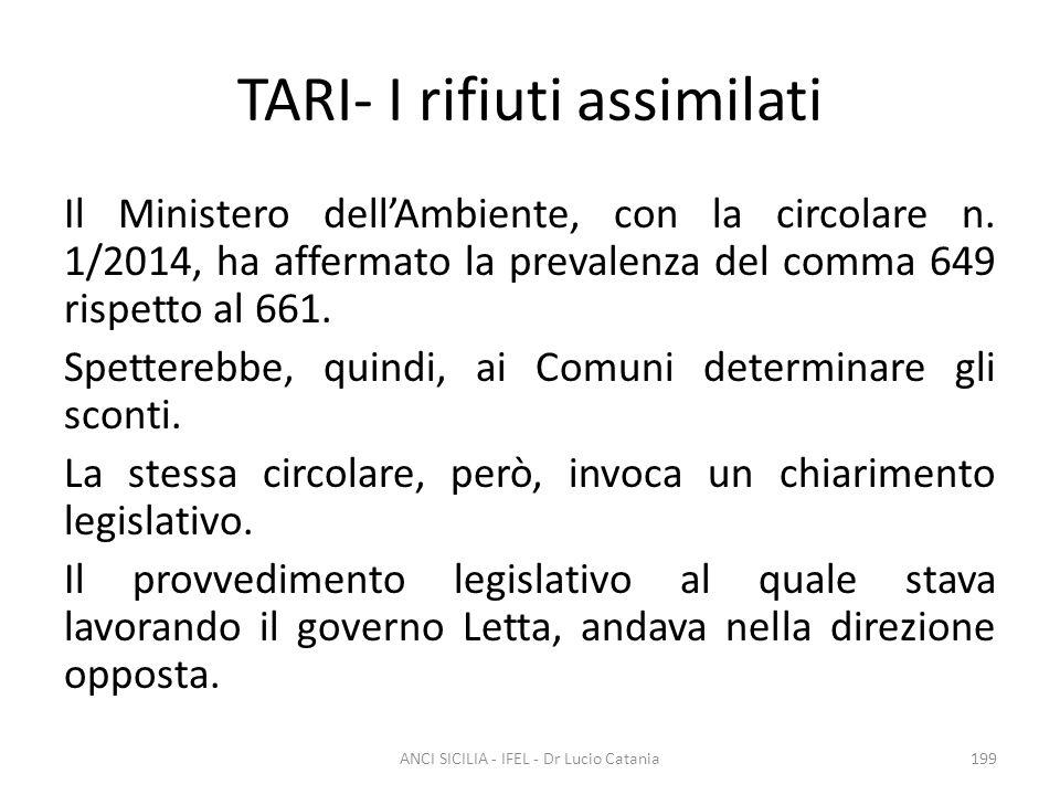 TARI- I rifiuti assimilati