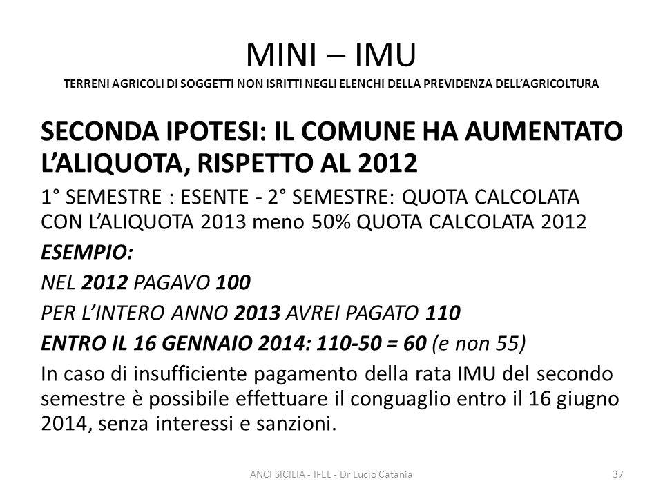 ANCI SICILIA - IFEL - Dr Lucio Catania