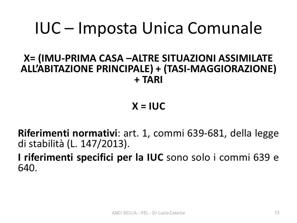 IUC – Imposta Unica Comunale