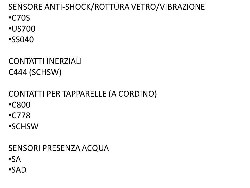 SENSORE ANTI-SHOCK/ROTTURA VETRO/VIBRAZIONE