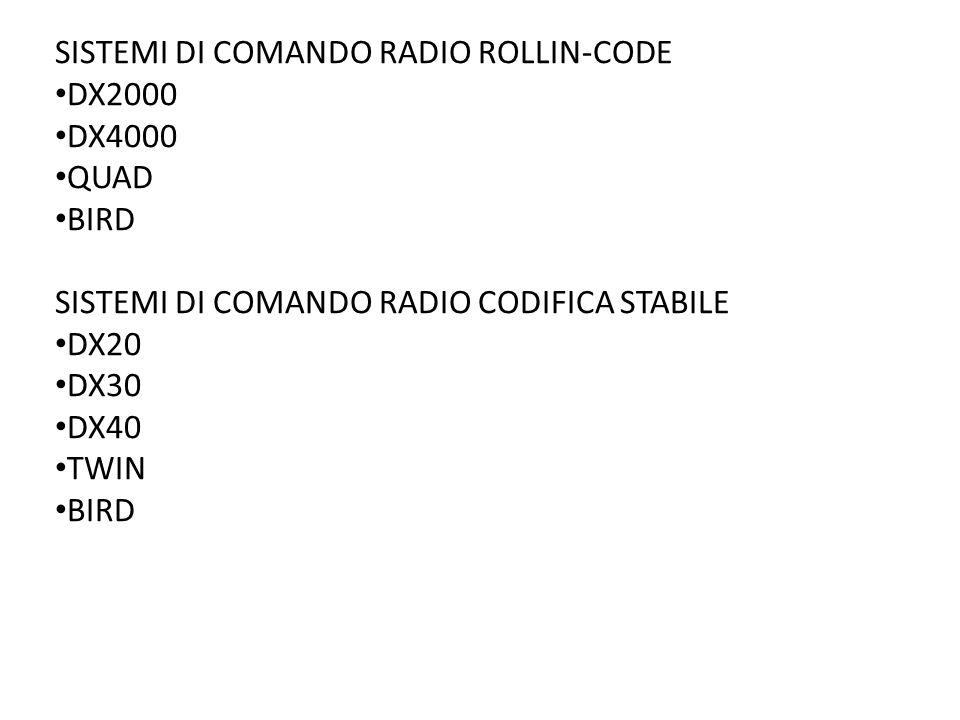 SISTEMI DI COMANDO RADIO ROLLIN-CODE