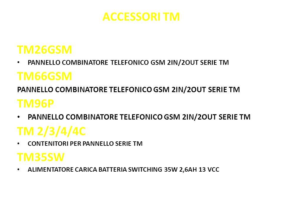 ACCESSORI TM TM26GSM TM66GSM TM96P TM 2/3/4/4C TM35SW