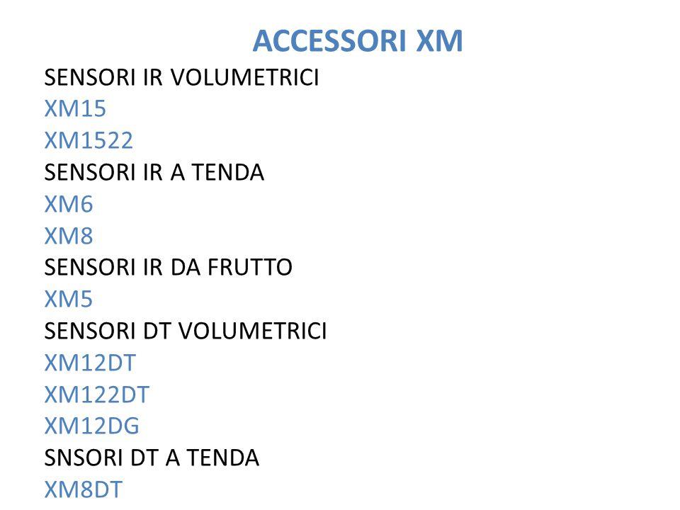 ACCESSORI XM SENSORI IR VOLUMETRICI XM15 XM1522 SENSORI IR A TENDA XM6