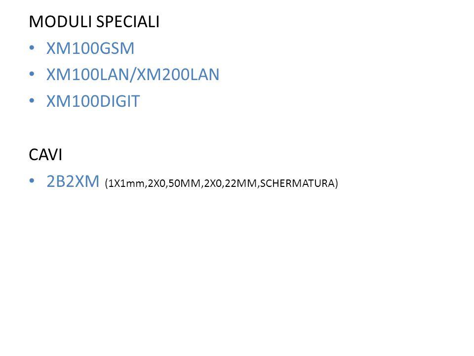 MODULI SPECIALI XM100GSM. XM100LAN/XM200LAN. XM100DIGIT.