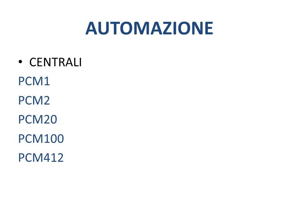 AUTOMAZIONE CENTRALI PCM1 PCM2 PCM20 PCM100 PCM412