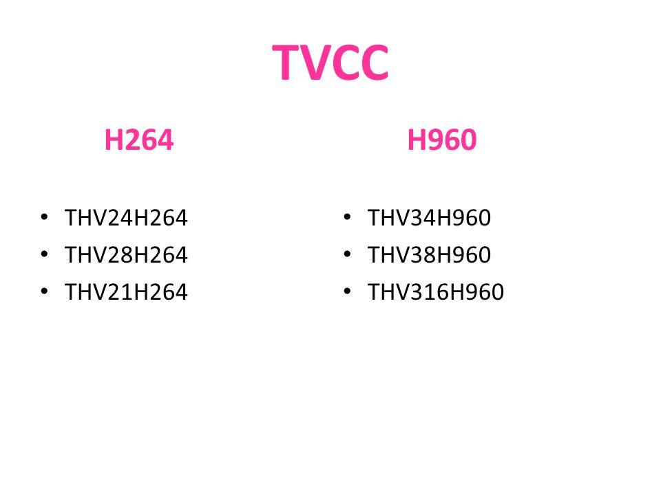 TVCC H264 THV24H264 THV28H264 THV21H264 H960 THV34H960 THV38H960