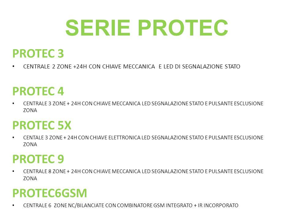 SERIE PROTEC PROTEC 3 PROTEC 4 PROTEC 5X PROTEC 9 PROTEC6GSM