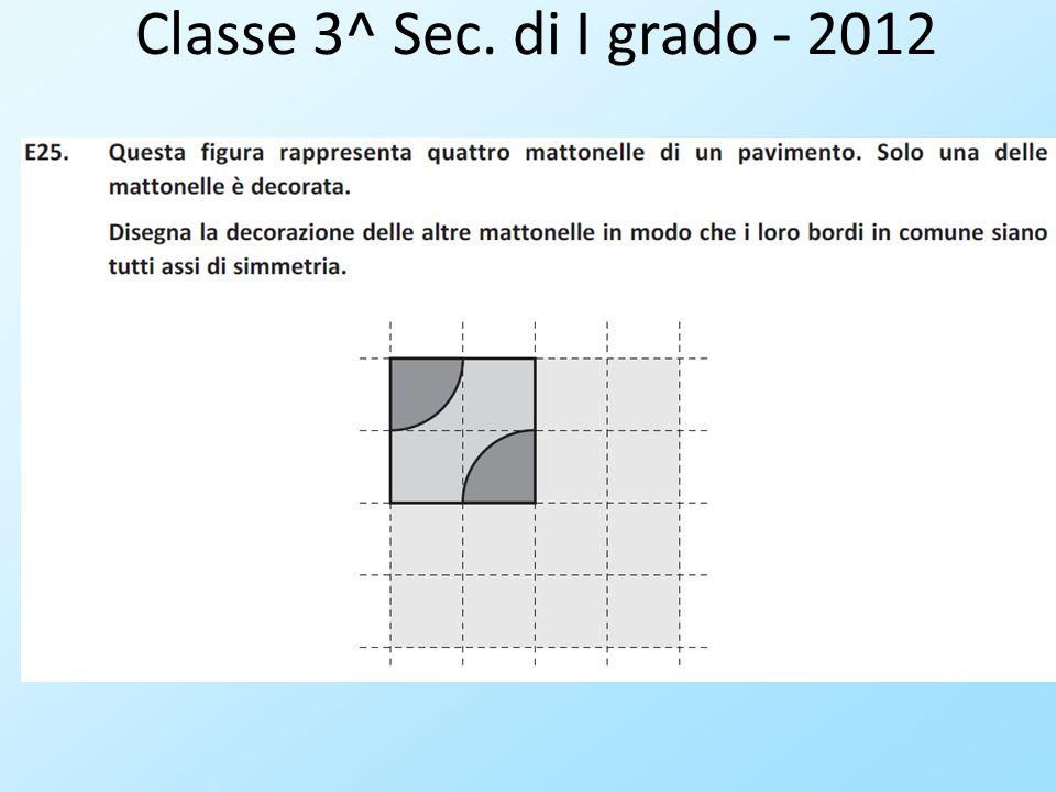 Classe 3^ Sec. di I grado - 2012