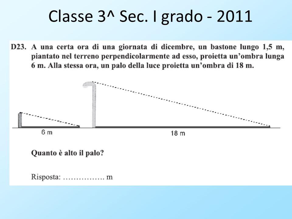 Classe 3^ Sec. I grado - 2011